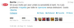 Screenshot Twitter.com/Barilla